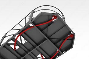 Кассета универсальная транспортная (ЭВЛ 5000 литров x 2 шт.) с раздельным торцевым сливом